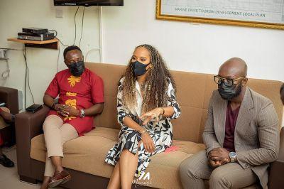 Actress Tanya Sam shoots 'Making of a Mogul' in Ghana