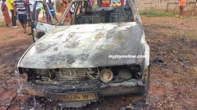 Sheep roasted in BMW after thieves escape possible lynching