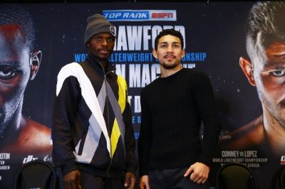 Richard Commey faces off with Teofimo Lopez ahead of Saturday fight
