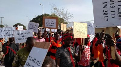 Concerned Youth of Upper West Region demonstrate against UDS realignment process