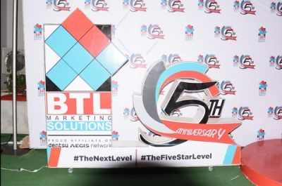 BTL Marketing Solutions marks 5th year in Ghana; pledges to conquer Africa by 2027