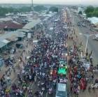 Huge crowd welcomes Fancy Gadam at Tamale after VGMA win