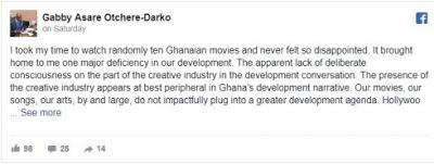 I'm disappointed with Ghanaian movies - Gabby Asare Otchere-Darko