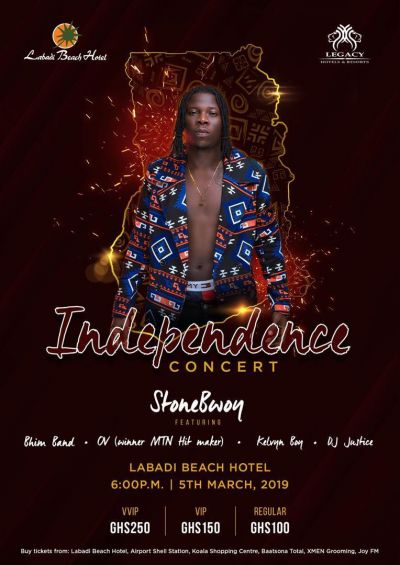 Stonebwoy to headline Independence Concert on March 5