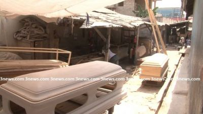 Kumasi coffin makers say they're being pushed out of business by Burkinabes