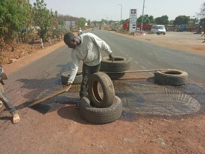 Meet the vulcanizer who uses his own money to patch roads in Wa