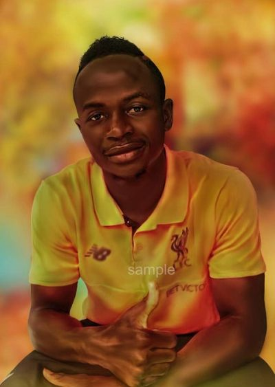 Ghanaian artist recreates images of 2017 CAF Best Player nominees