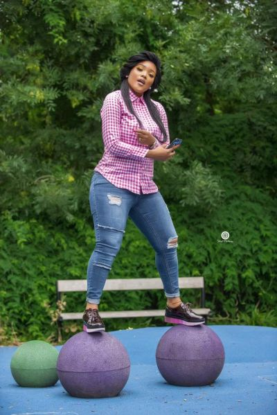 Akosua Vee writes: The jeans, shirt and platform creepers feel!