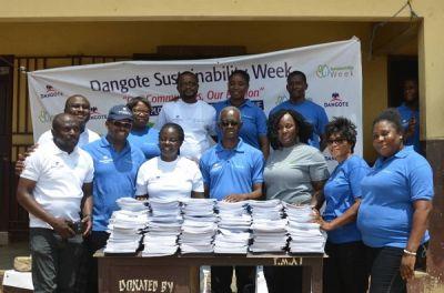 Dangote cement Ghana donates to Sakumono School