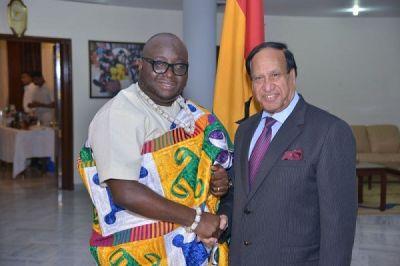 Indian President receives Ghanaian envoy