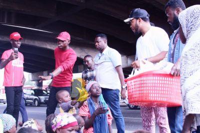 Nana Boroo celebrates birthday with homeless on the street