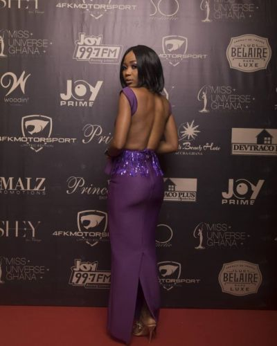 This is how Rosemond Brown stepped out to Miss Universe Ghana 2018