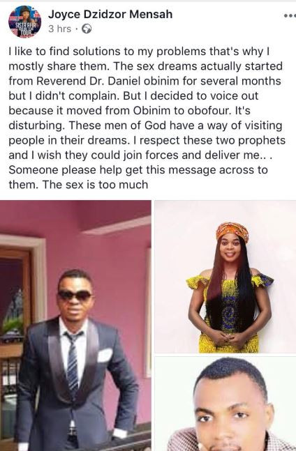 Sex Dreams With Bishop Obinim & Rev. Obofour Becoming Unbearable — Joyce Dzidzor Mensah Cries For Help - 68326611 - Sex Dreams With Bishop Obinim & Rev. Obofour Becoming Unbearable — Joyce Dzidzor Mensah Cries For Help