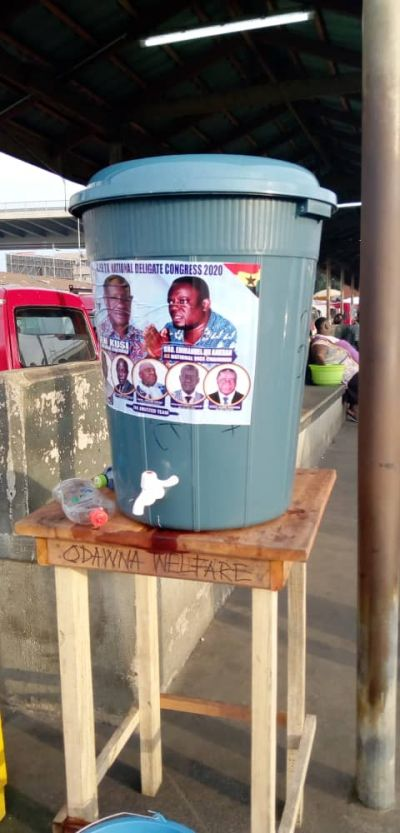 Coronavirus: GPRTU provides Veronica buckets at Circle station