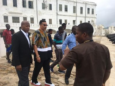 Referee Tony Weeks tours Cape Coast castle