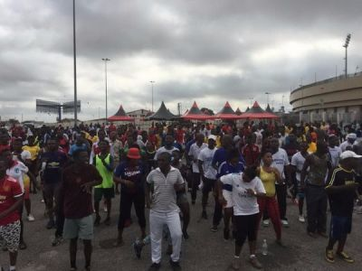 Supporters of European clubs dominate Nhyira FM Health Walk