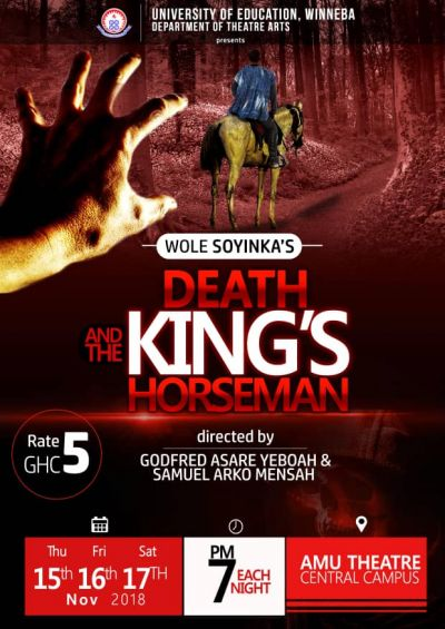 'The Fall of Kumbi', 'Death and the King's Horseman' hit UEW in November