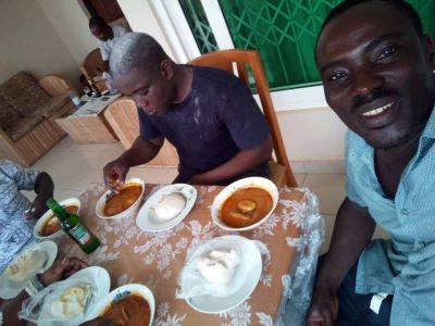 Deported Adoboli gets rousing feastful welcome back home