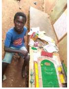 9-year-old boy develops architectural model of Axim Sports Complex