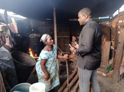 John Dumelo pounds fufu, braids hair for votes