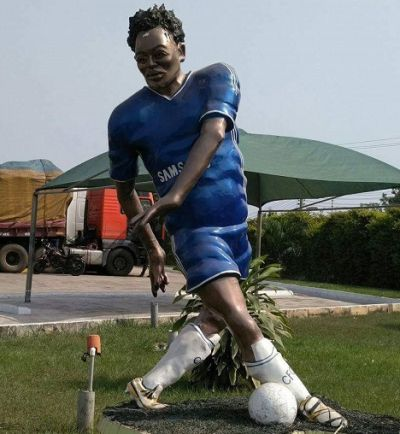 Michael Essien's statue causes stir on Social Media