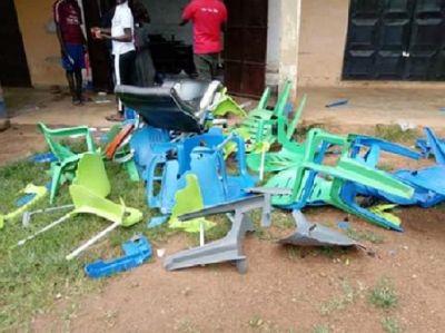 Irate youth vandalise NPP office in Sagnerigu
