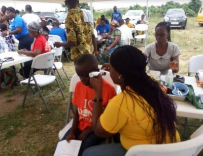 East Legon Rotary Club provides free medical screening to Tomefa township