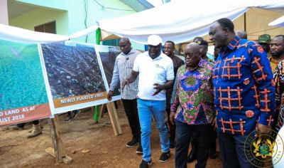 Akufo-Addo commissions 20MW solar plant; inspects 1D1F project in Gomoa West