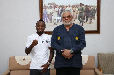 Rawlings urges Agbeko to victory