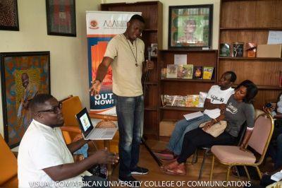 AUCC lecturer exhibits artworks at Ama Ata Aidoo Centre