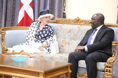 Denmark's Queen Margrethe arrives in Ghana