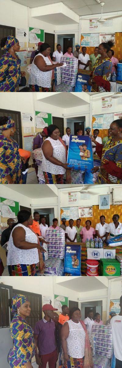 Chief of Staff donates items worth GHC5,000, cash to Legon Hospital maternity ward
