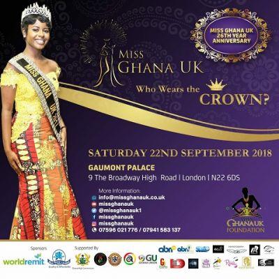 Miss Ghana UK 2018 slated for September 22