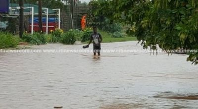 Flood waters take over Dansoman after rainfall