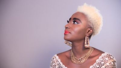 Gospel musician Lady Prempeh goes blonde with her new short hair