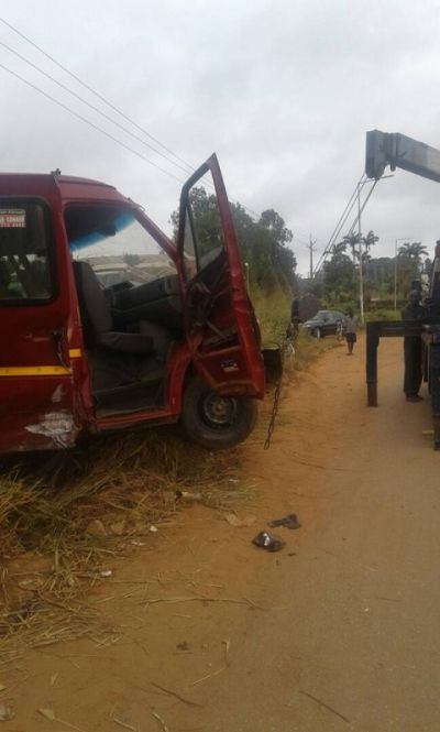Benz bus collides with tipper truck
