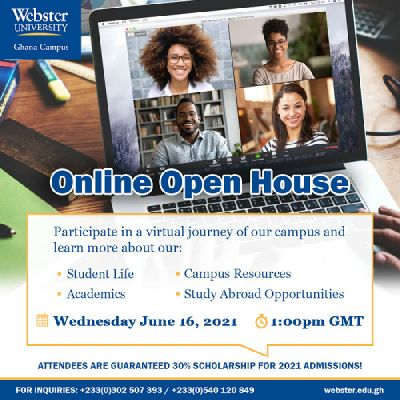 Discover the Webster University advantage in their upcoming online admissions events this June