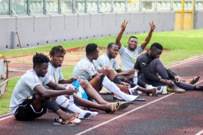 Local Black Stars training at Baba Yara Stadium ahead of Burkina Faso CHAN qualifier