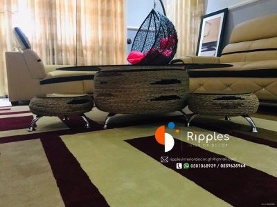 Meet the Ghanaian student who is transforming used tires into furniture