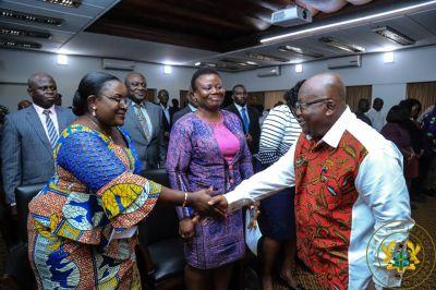 Akufo-Addo swears in Martin Amidu's board