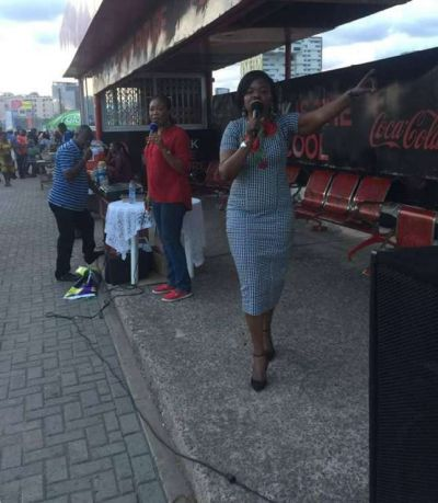 EC Commissioner seen preaching at Accra Mall bus stop