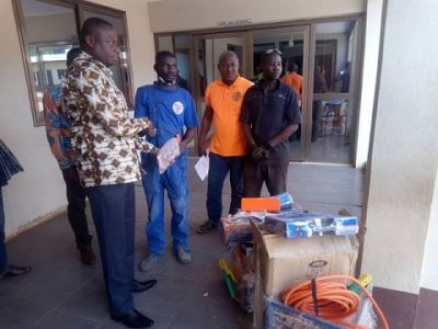 West Gonja DCE supports craftsmen with working tools