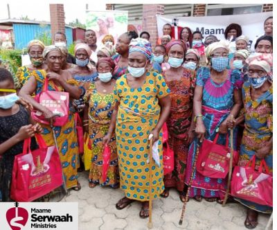 Maame Serwaah Ministries donate to mothers with physically challenged children on Mother's Day