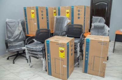 GCNet presents 450 laptops to support GRA-Domestic Tax Field Revenue Mobilization