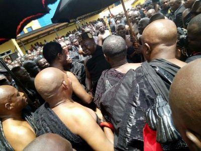 Otumfuo Osei Tutu makes historic visit to Techiman
