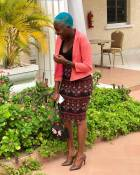 Fans roast Fella Makafui for dying her hair blue